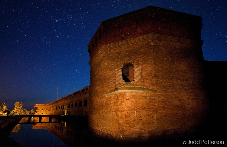 Fort Jefferson at Night, Dry Tortugas National Park, Florida, United States